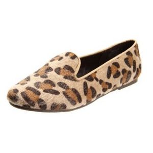 Wanted Faux Fur Slip on Leopard Loafer